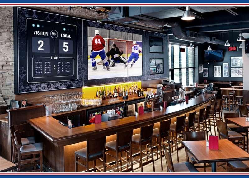 Bar d'un Boston Pizza